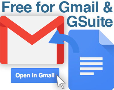 Free for Gmail or G Suite
